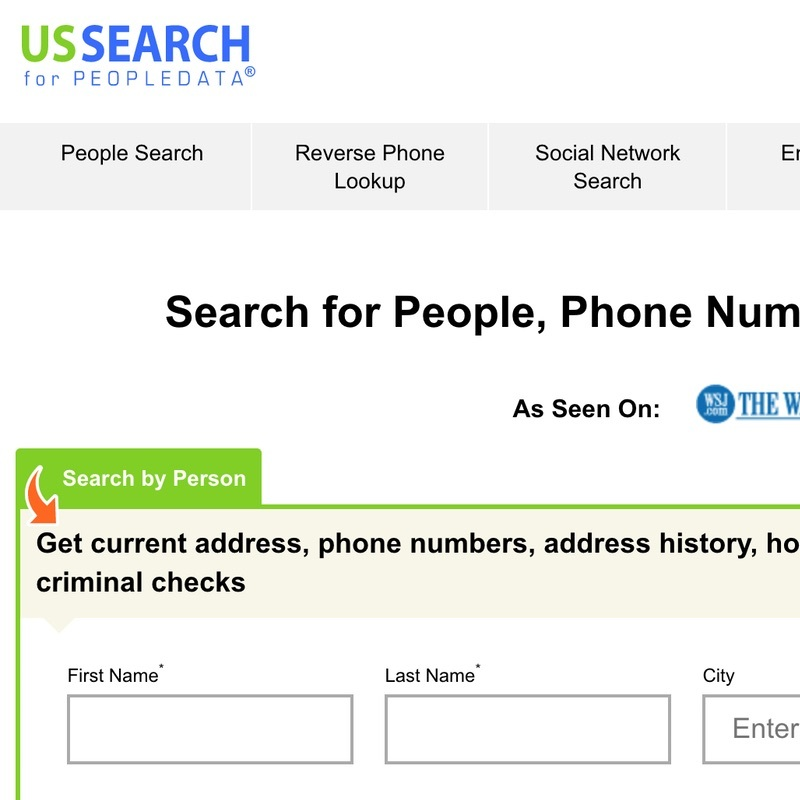 Guide to delete your USSearch.com listing.